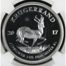 2017 Krugerrand 1oz FINE Silver 50TH ANNIVERSARY - PF70 UC- NGC