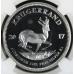 2017 Krugerrand 1oz FINE Silver 50TH ANNIVERSARY - PF69 UC- NGC