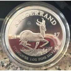 2017 Krugerrand 1oz FINE Silver 50th ANNIVERSARY PROOF - brand new